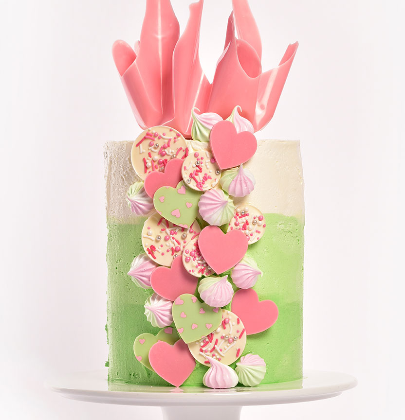 4-Tiered Peppermint Ombre Chocolate Cake Project