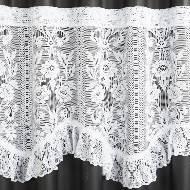 Filigree Tuscany Continuous 60 cm Sheer Valance White 60 cm