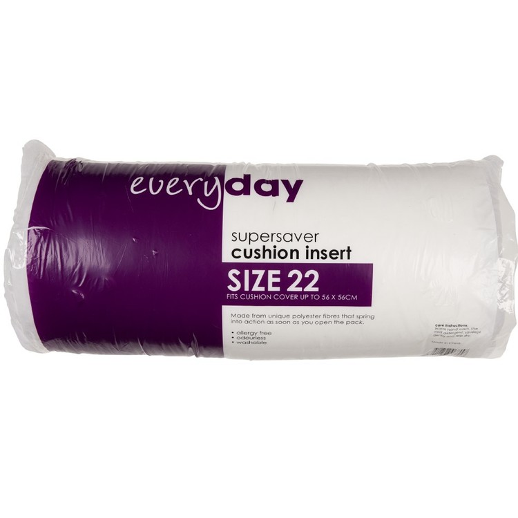 Everyday Cushion Insert White 56 x 56 cm - Everyday Bargain