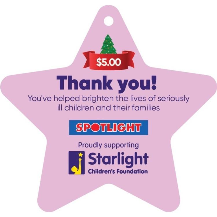 Starlight Children's Foundation Donation Star $5