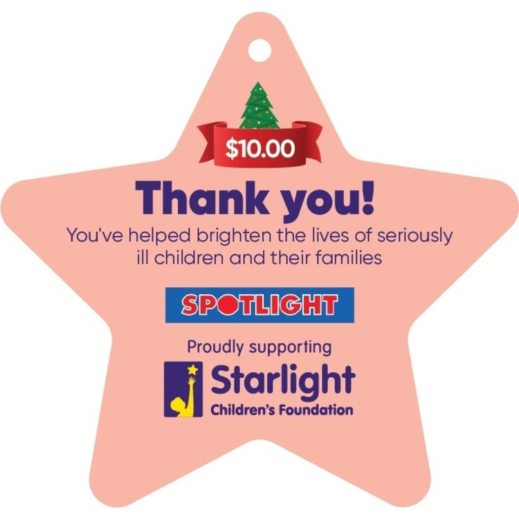 Starlight Children's Foundation Donation Star $10