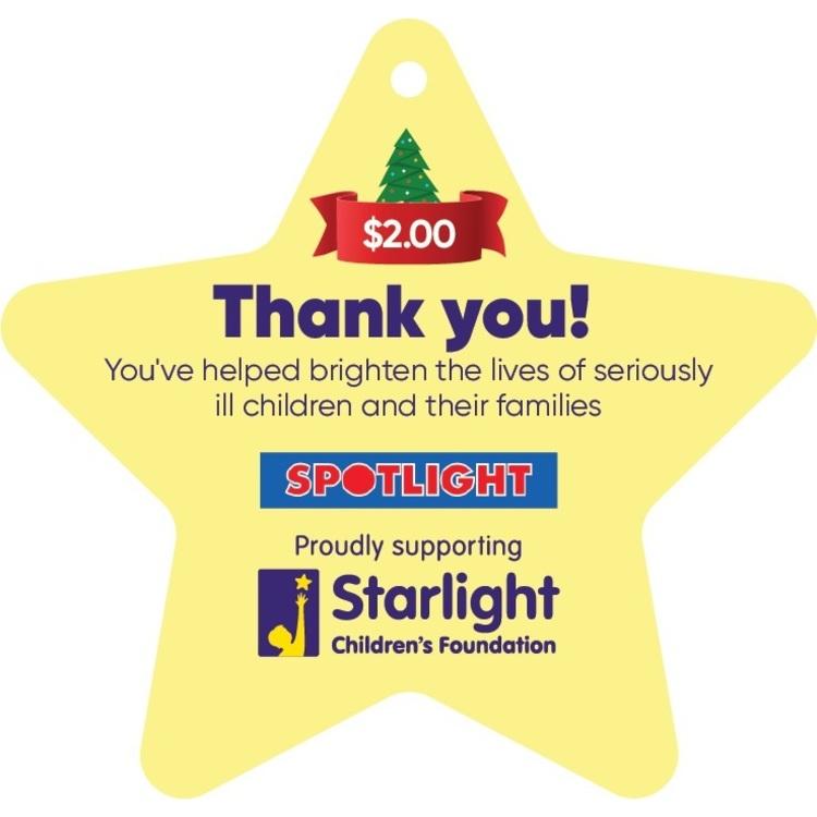 Starlight Children's Foundation Donation Star $2