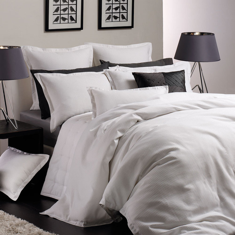 Platinum Ascot Cotton Polyester Quilt Cover Set