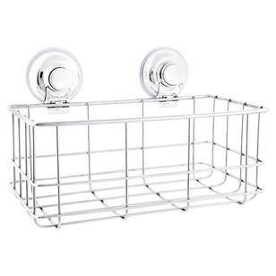 Naleon Classic Super Suction Large Chrome Basket