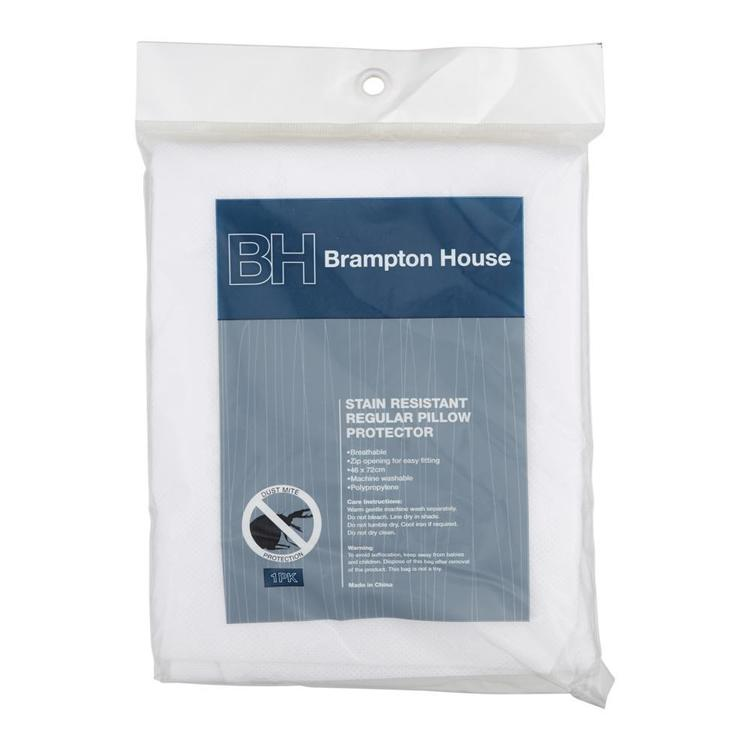 Brampton House  Stain Resistant Pillow Protector White Standard