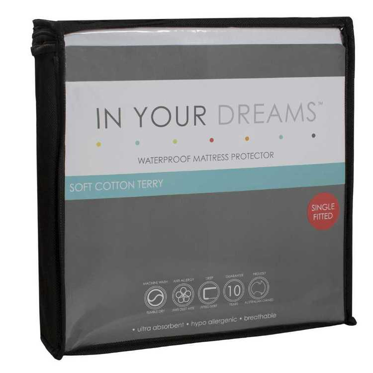 In Your Dreams Waterproof Mattress Protector White