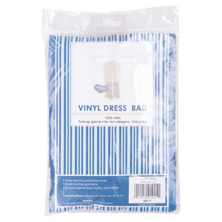 Brampton House Striped Dress Bag Clear