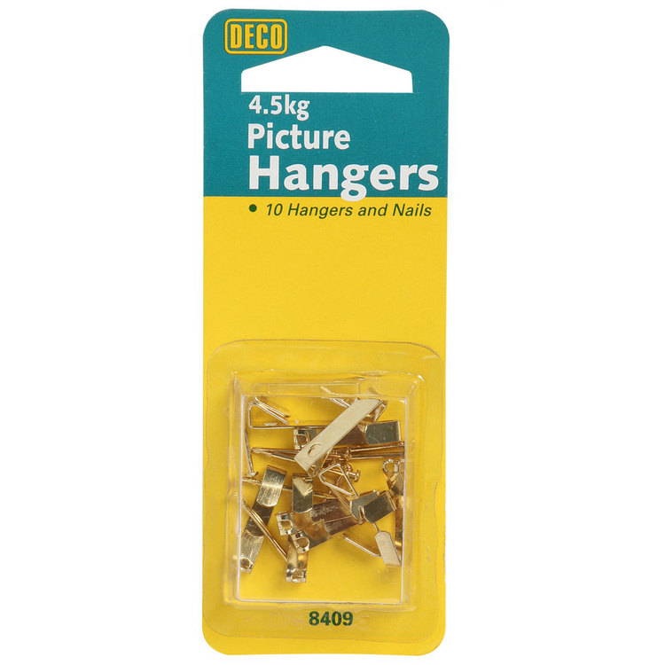 Deco Hardware Picture Hanger 10 Pack Gold