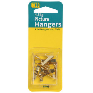 Deco Hardware Picture Hanger 10 Pack