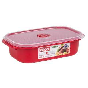 Decor Microsafe Oblong Container 900 mL