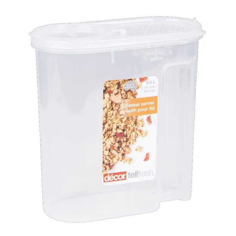 Decor Tellfresh Cereal Server 3 L Clear