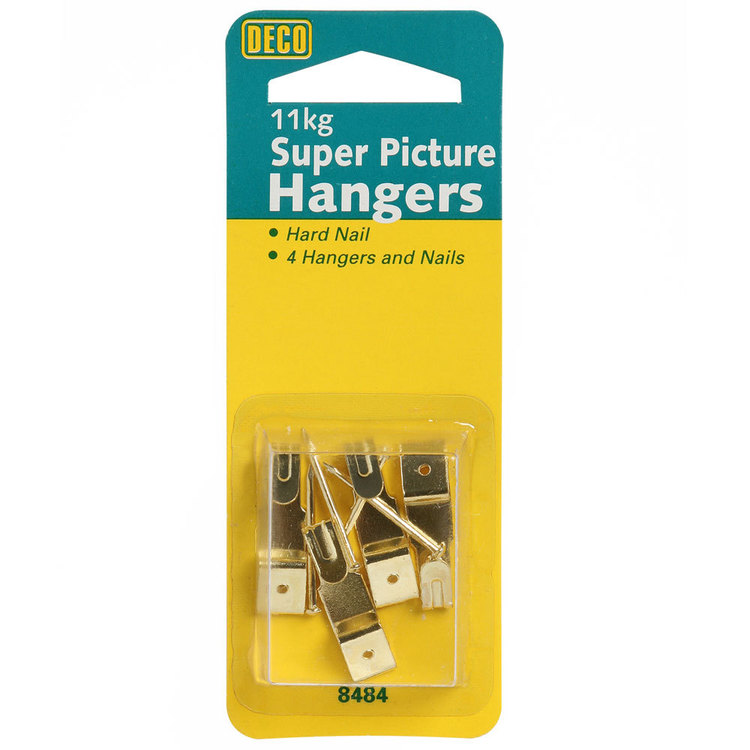 Deco Hardware Picture Hanger 4 Pack Gold