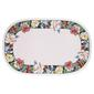 Floral Oval PVC Decorative Placemat Floral Border