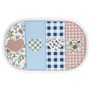 Patchwork Oval PVC Decorative Placemat
