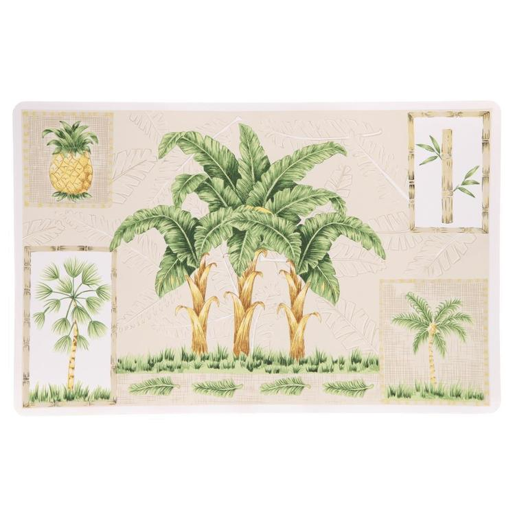 Palm Tree Rectangle PVC Decorative Placemat
