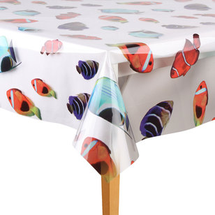 Ladelle Vinyl Printed Tropical Fish By The Metre