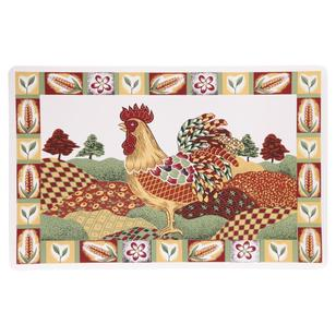 Rooster Rectangle PVC Decorative Placemat