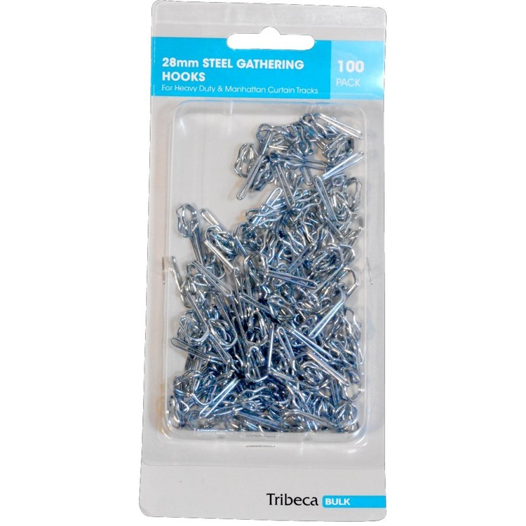 Tribeca Steel Gather Hooks 100 Pack