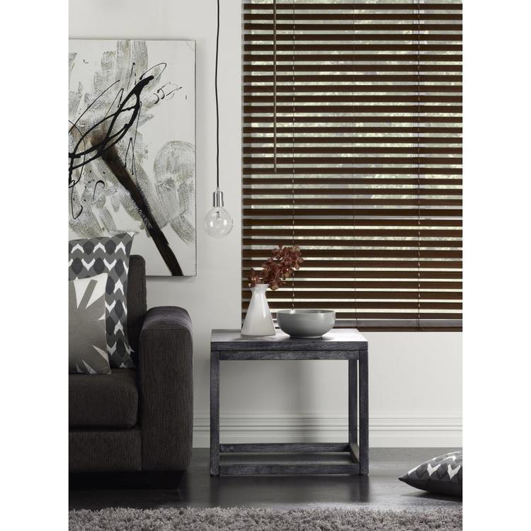 Windowshade 50 mm Brown Oak Timber Venetian Blind