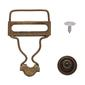 Birch Overall Clips & No Sew Buttons Bronze