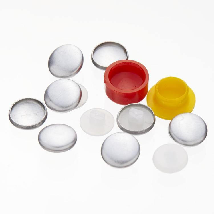 Birch Button Covering Kit 6 Pack Silver
