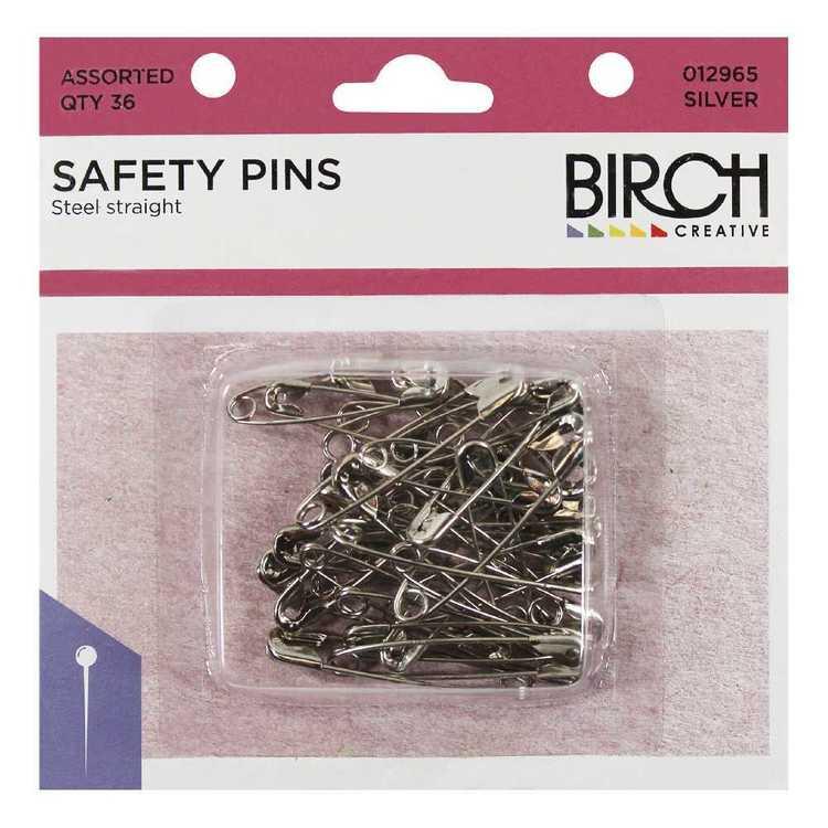 Birch Steel Safety Pins 36 Pack