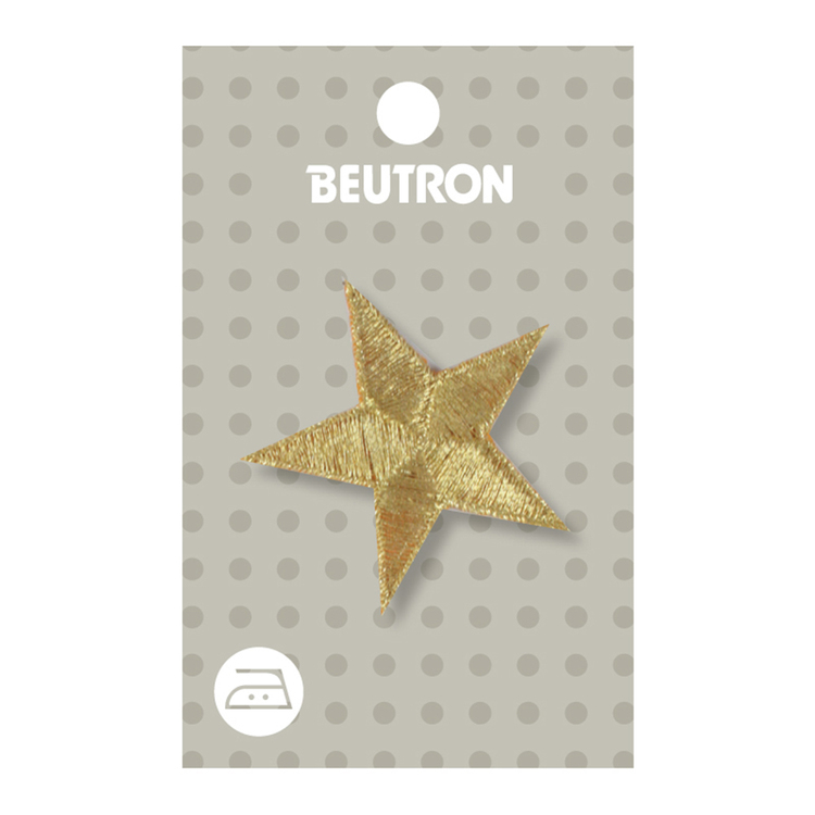 Beutron Medium Gold Star Motif