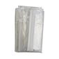 Birch Garment Bag With Zip Clear