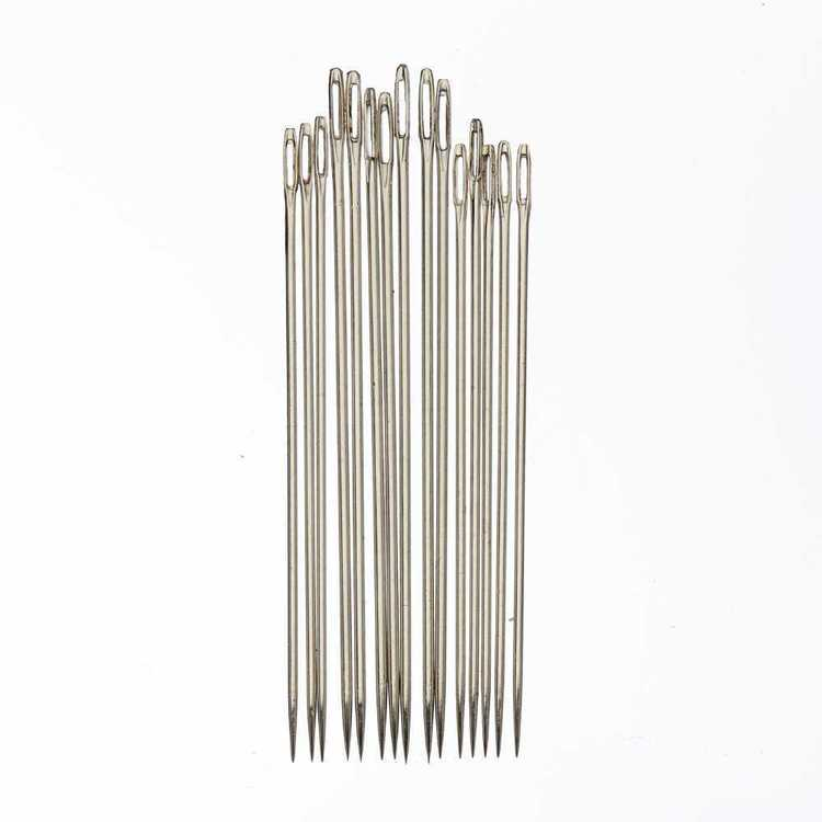Birch Embroidery Needles For Dolls Silver