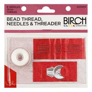 Birch Bead Thread, Needles & Threader