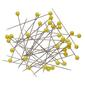 Birch Plastic Head Pins 200 Pack Yellow 45 mm