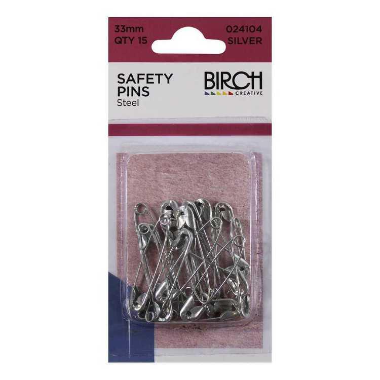 Birch Steel Safety Pins 15 Pack