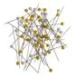 Birch Quilter's Pins 300 Pack Yellow & White
