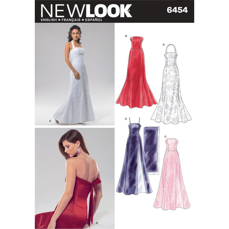 New Look Pattern 6454 Women's Evening And Bridal Wear