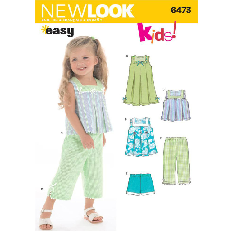 New Look 6473 Girl's Coordinates  6 Months - 4 Years