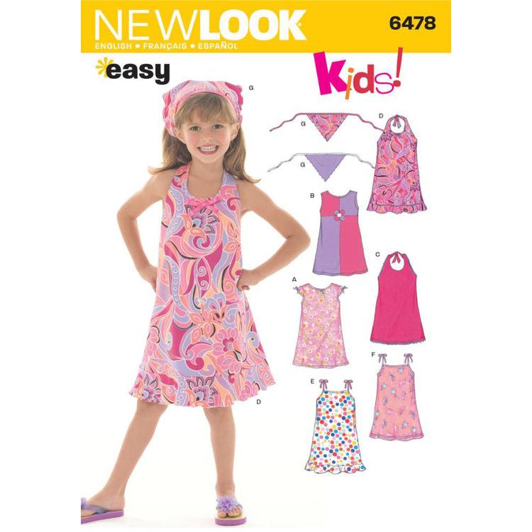 New Look Pattern 6478 Girl's Dress