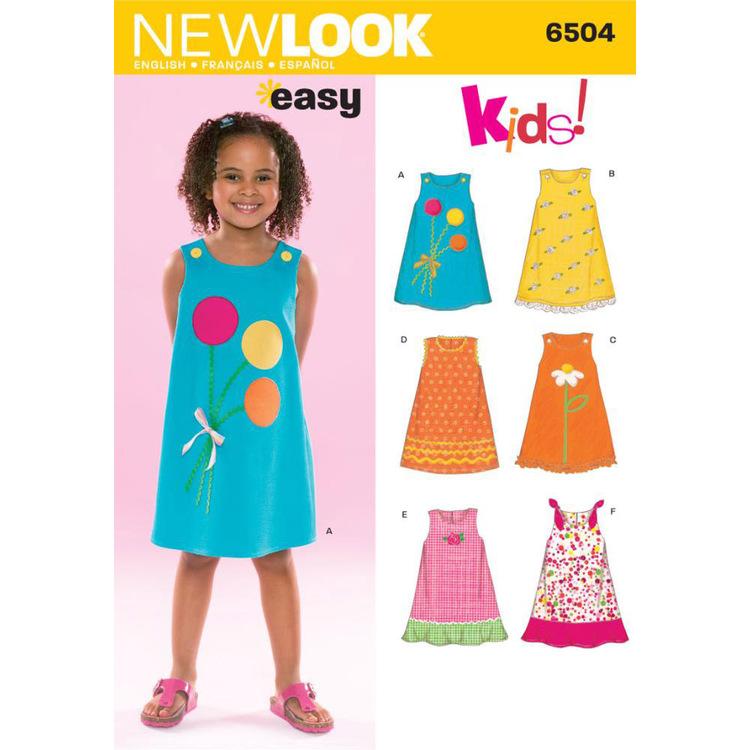 New Look Pattern 6504 Girl's Dress