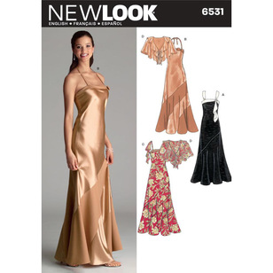 New Look Pattern 6531 Women's Evening And Bridal Wear