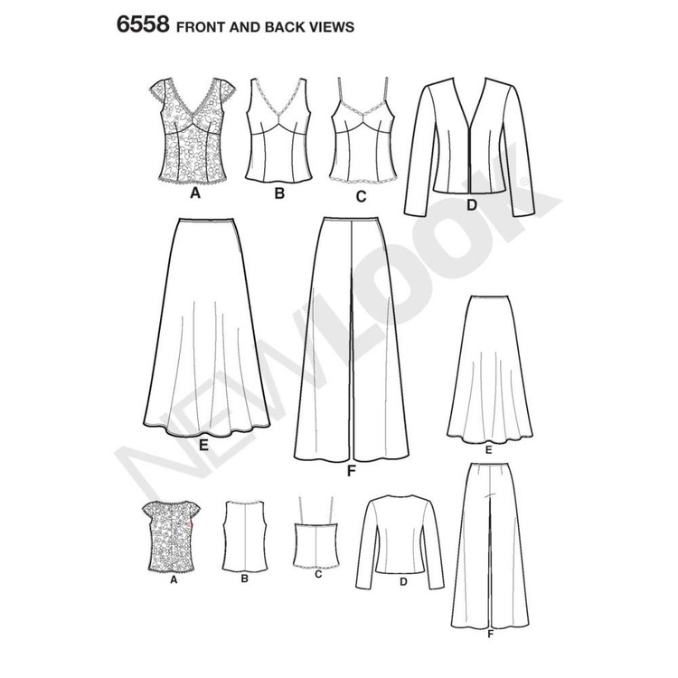 New Look Pattern 6558 Women's Evening And Bridal Wear  8 - 18