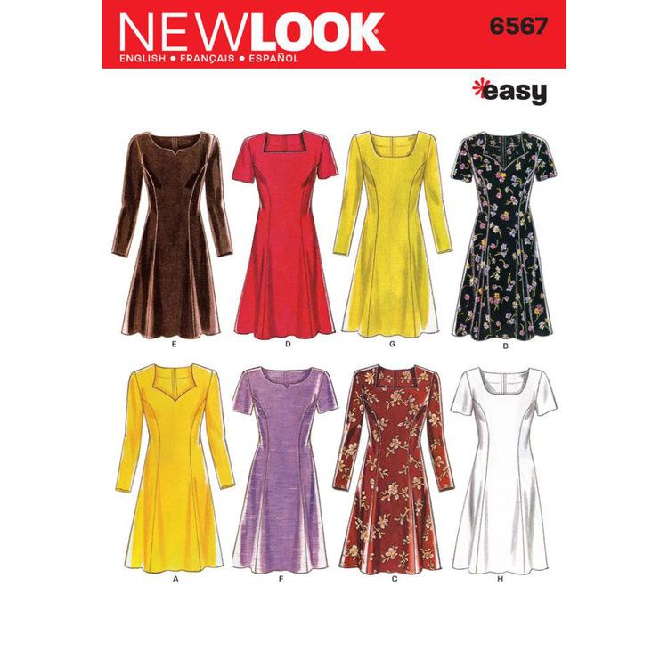 New Look Pattern 6567 Women's Dress
