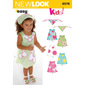 New Look Pattern 6578 Girl's Dress  6 Months - 4 Years