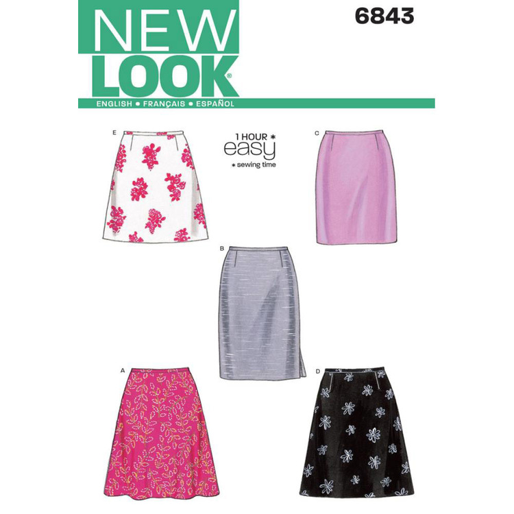New Look 6843 Women's Skirt  8 - 18