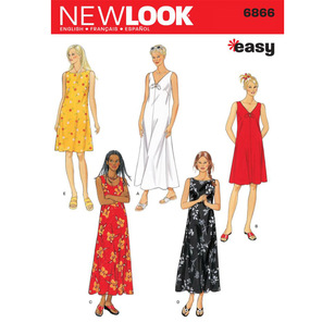 New Look Pattern 6866 Women's Dress