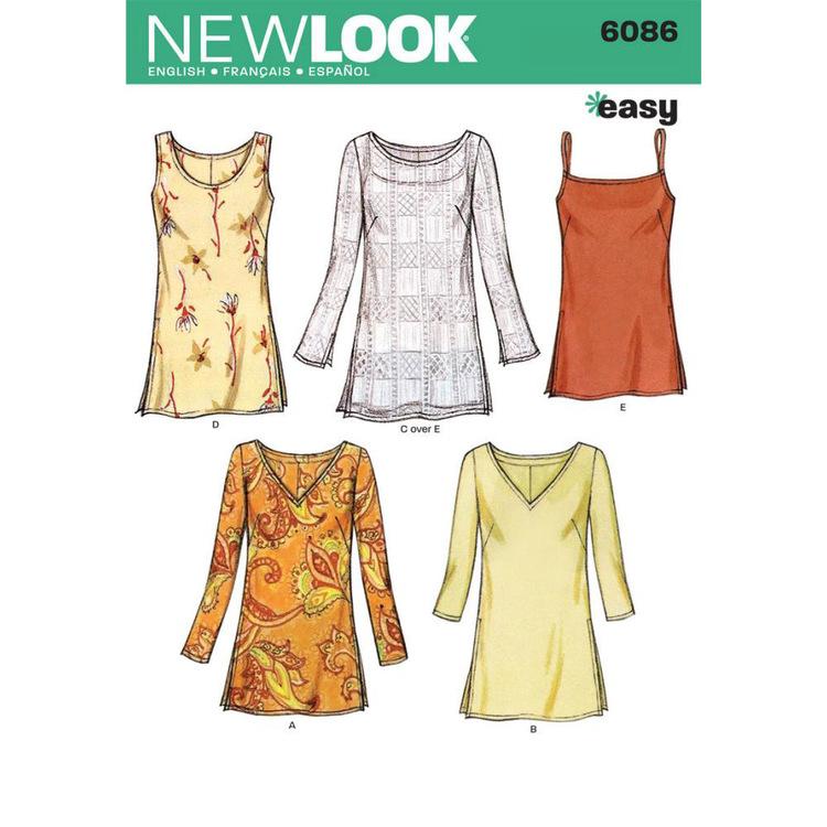 New Look Pattern 6086 Women's Top