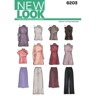 New Look Pattern 6203 Women's Evening And Bridal Wear