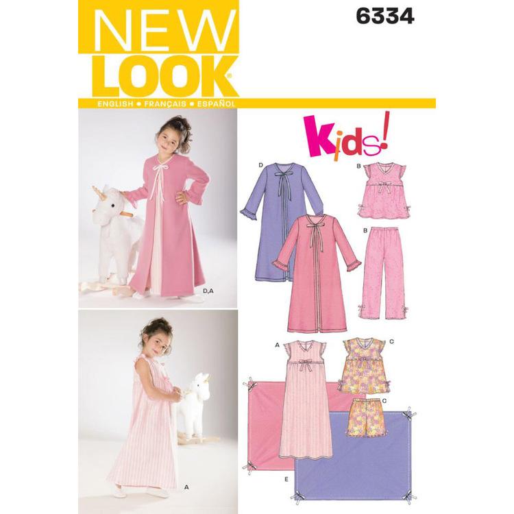 New Look Pattern 6334 Girl's Sleepwear