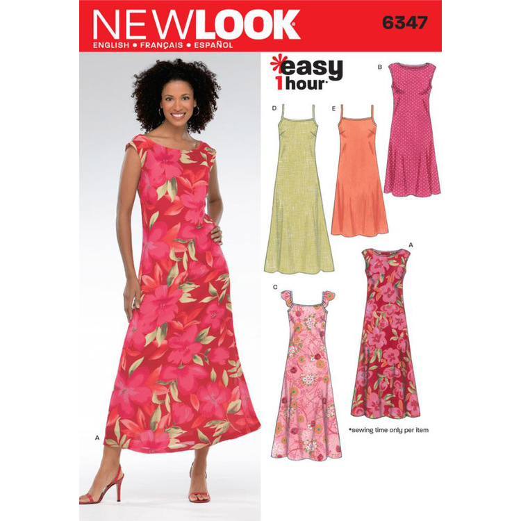 New Look 6347 Women's Dress  10 - 22
