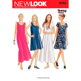 New Look Pattern 6352 Women's Dress