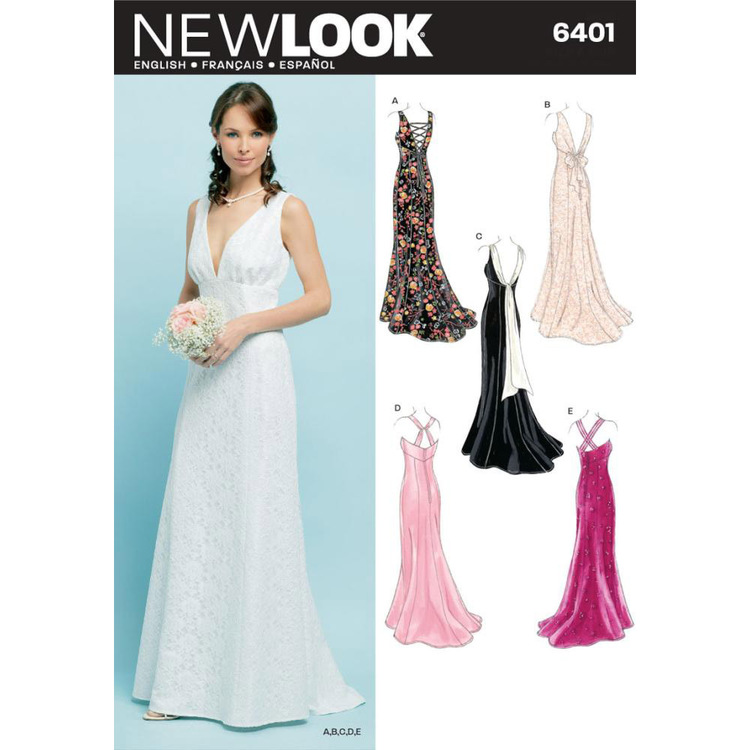 New Look Pattern 6401 Women's Evening And Bridal Wear