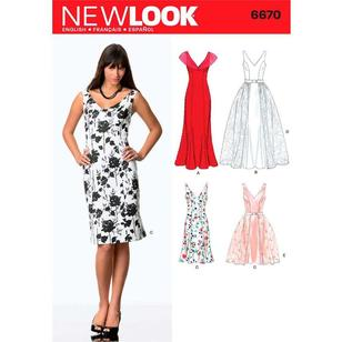 New Look Pattern 6670 Women's Dress